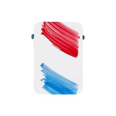 Tricolor banner watercolor painting, red blue white Apple iPad Mini Protective Soft Cases