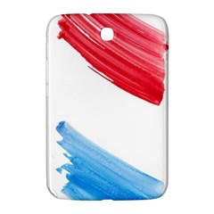Tricolor banner watercolor painting, red blue white Samsung Galaxy Note 8.0 N5100 Hardshell Case