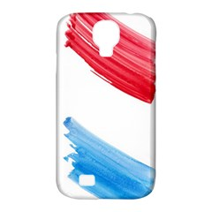Tricolor banner watercolor painting, red blue white Samsung Galaxy S4 Classic Hardshell Case (PC+Silicone)