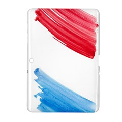 Tricolor banner watercolor painting, red blue white Samsung Galaxy Tab 2 (10.1 ) P5100 Hardshell Case