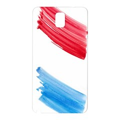 Tricolor banner watercolor painting, red blue white Samsung Galaxy Note 3 N9005 Hardshell Back Case