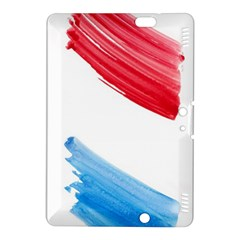 Tricolor banner watercolor painting, red blue white Kindle Fire HDX 8.9  Hardshell Case