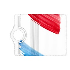 Tricolor banner watercolor painting, red blue white Kindle Fire HD (2013) Flip 360 Case