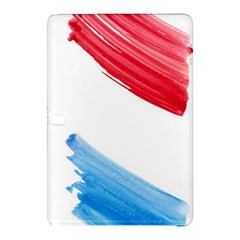 Tricolor banner watercolor painting, red blue white Samsung Galaxy Tab Pro 10.1 Hardshell Case