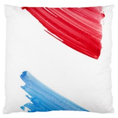 Tricolor banner watercolor painting, red blue white Standard Flano Cushion Case (One Side)