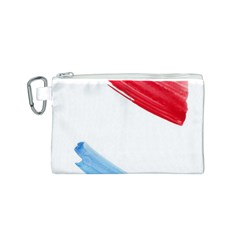 Tricolor banner watercolor painting, red blue white Canvas Cosmetic Bag (S)
