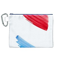 Tricolor banner watercolor painting, red blue white Canvas Cosmetic Bag (XL)