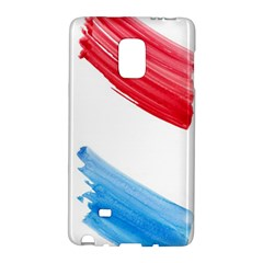 Tricolor banner watercolor painting, red blue white Galaxy Note Edge