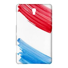 Tricolor banner watercolor painting, red blue white Samsung Galaxy Tab S (8.4 ) Hardshell Case