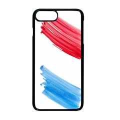 Tricolor Banner Watercolor Painting, Red Blue White Apple Iphone 7 Plus Seamless Case (black)
