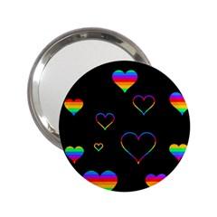 Rainbow harts 2.25  Handbag Mirrors
