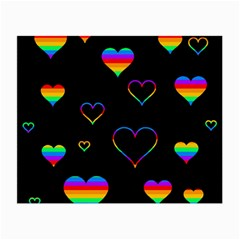 Rainbow harts Small Glasses Cloth