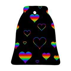 Rainbow harts Ornament (Bell)