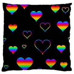 Rainbow harts Large Cushion Case (Two Sides)