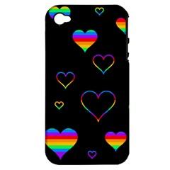 Rainbow harts Apple iPhone 4/4S Hardshell Case (PC+Silicone)
