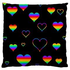 Rainbow harts Standard Flano Cushion Case (One Side)
