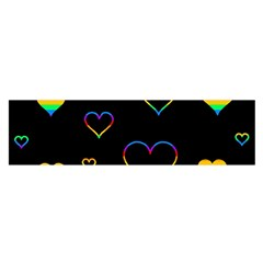 Rainbow harts Satin Scarf (Oblong)
