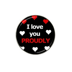 I love you proudly Hat Clip Ball Marker (10 pack)