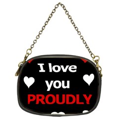I love you proudly Chain Purses (Two Sides)
