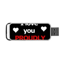 I love you proudly Portable USB Flash (Two Sides)