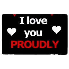 I love you proudly Apple iPad 3/4 Flip Case