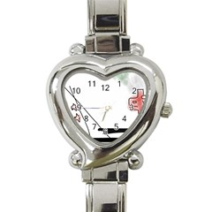 Car Love Birds Birds Pink Car Heart Italian Charm Watch