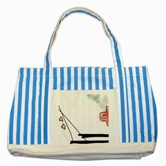 Car Love Birds Birds Pink Car Striped Blue Tote Bag