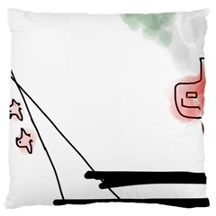 Car Love Birds Birds Pink Car Large Flano Cushion Case (Two Sides)