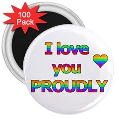I love you proudly 2 3  Magnets (100 pack)