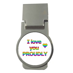 I love you proudly 2 Money Clips (Round)