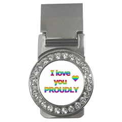 I love you proudly 2 Money Clips (CZ)