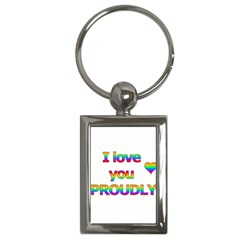 I love you proudly 2 Key Chains (Rectangle)