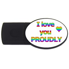I love you proudly 2 USB Flash Drive Oval (4 GB)