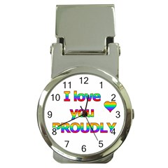 I love you proudly 2 Money Clip Watches