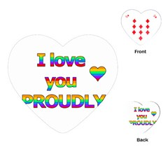 I love you proudly 2 Playing Cards (Heart)