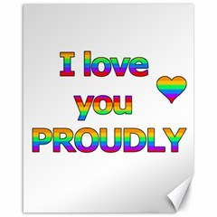 I love you proudly 2 Canvas 16  x 20