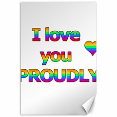 I love you proudly 2 Canvas 24  x 36