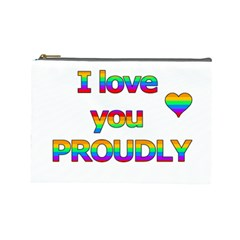 I love you proudly 2 Cosmetic Bag (Large)
