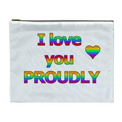 I love you proudly 2 Cosmetic Bag (XL)