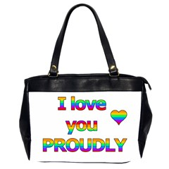 I love you proudly 2 Office Handbags (2 Sides)