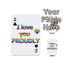 I love you proudly 2 Playing Cards 54 (Mini)