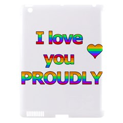 I love you proudly 2 Apple iPad 3/4 Hardshell Case (Compatible with Smart Cover)