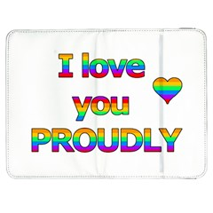 I love you proudly 2 Samsung Galaxy Tab 7  P1000 Flip Case