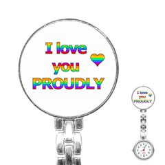 I love you proudly 2 Stainless Steel Nurses Watch