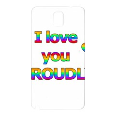 I love you proudly 2 Samsung Galaxy Note 3 N9005 Hardshell Back Case