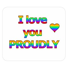 I love you proudly 2 Double Sided Flano Blanket (Small)