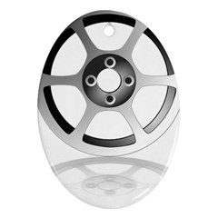Car Wheel Chrome Rim Ornament (Oval)