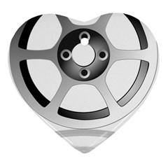 Car Wheel Chrome Rim Ornament (Heart)