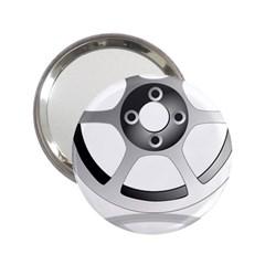 Car Wheel Chrome Rim 2.25  Handbag Mirrors