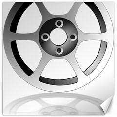 Car Wheel Chrome Rim Canvas 16  x 16